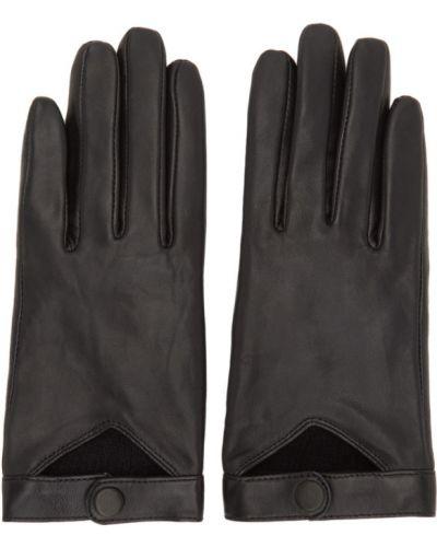 Czarne rękawiczki wełniane Mackage