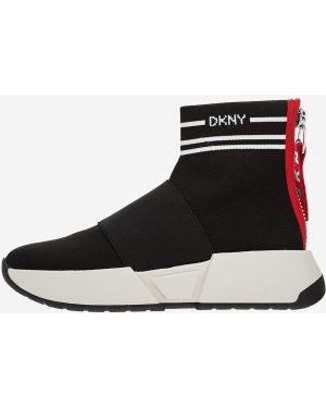 Высокие кроссовки на молнии текстильные Dkny
