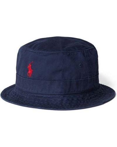 Niebieska czapka bawełniana Polo Ralph Lauren