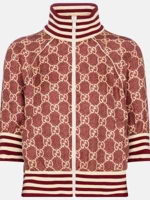 Шелковая белая куртка винтажная Gucci