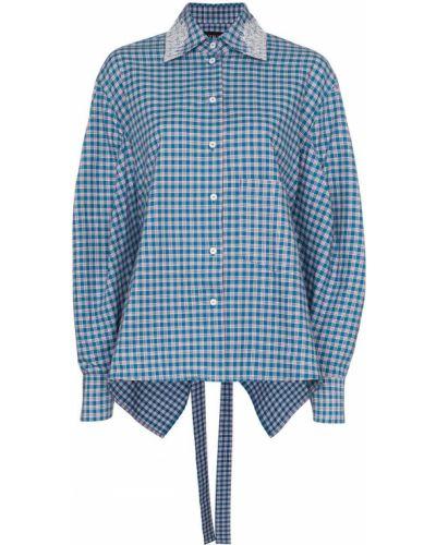 Синяя рубашка с воротником с манжетами Anouki