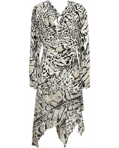 Шелковое платье мини Roberto Cavalli