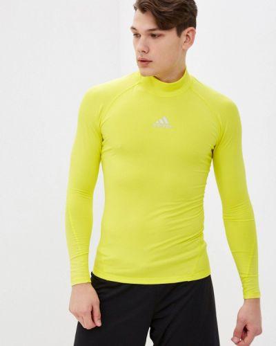Желтый спортивный лонгслив Adidas