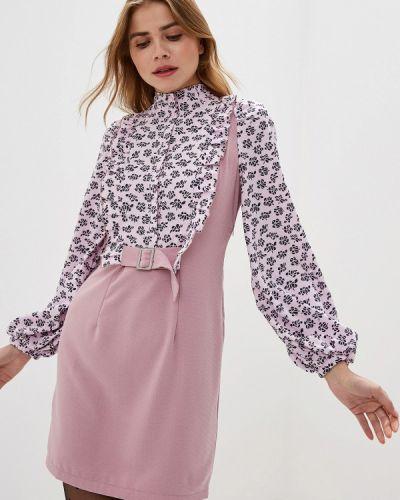Платье розовое весеннее Adzhedo