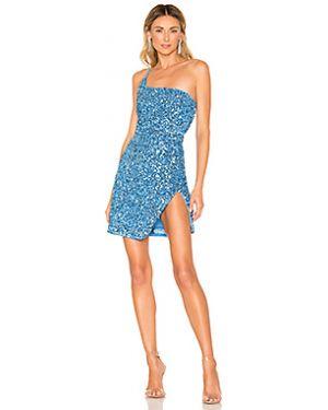Платье на бретелях синее Nbd