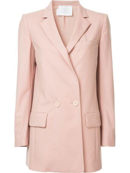 Шерстяной пиджак с карманами Oscar De La Renta