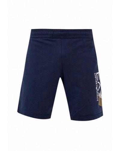 Синие спортивные шорты Ea7