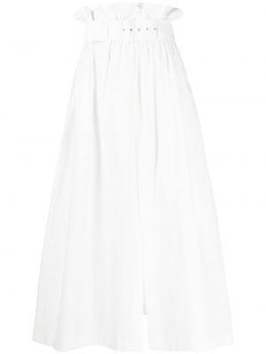 Biała spódnica midi rozkloszowana bawełniana Msgm