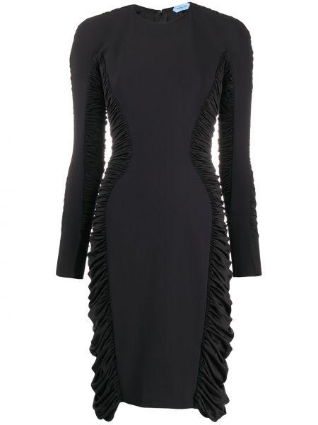 Платье макси длинное - черное Mugler