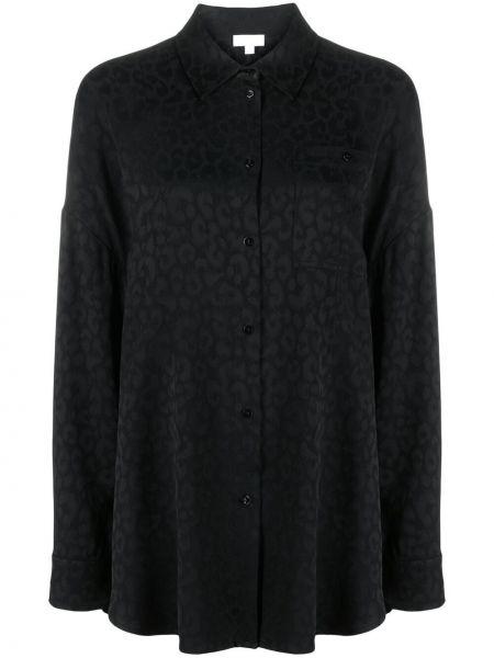 Черная классическая рубашка с воротником из вискозы Lala Berlin