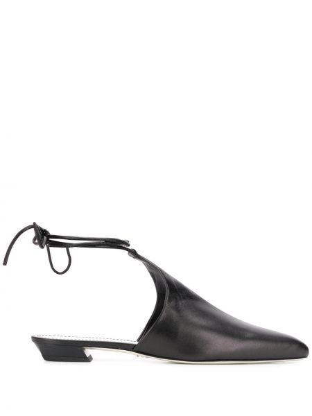 Мюли черный на каблуке Proenza Schouler
