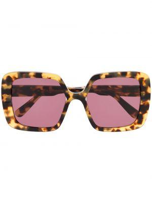 Прямые муслиновые розовые солнцезащитные очки квадратные Marni Eyewear