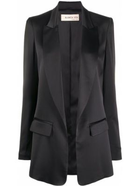 Czarny garnitur z długimi rękawami Blanca Vita