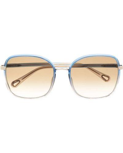 Złote oprawka do okularów - niebieskie Chloé Eyewear