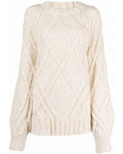Biały sweter Dondup