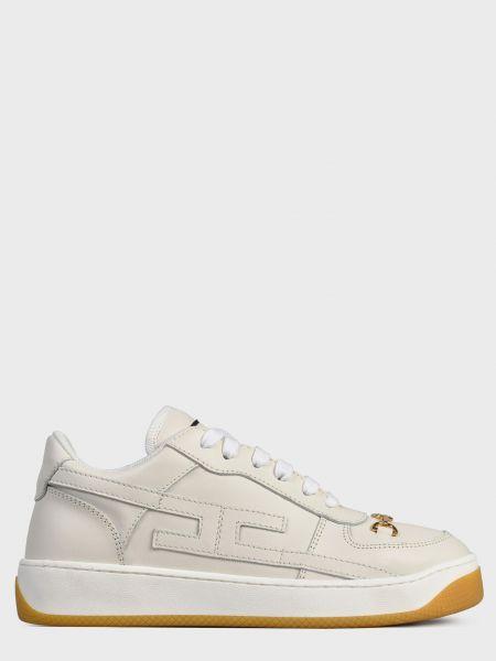 Кожаные кроссовки - белые Elisabetta Franchi
