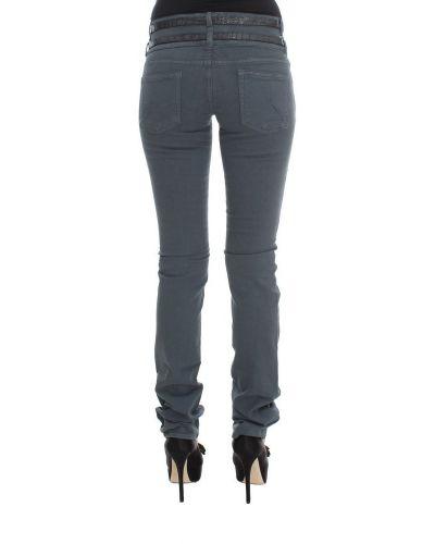 Jeansy z wysokim stanem bawełniane Galliano