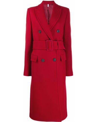 Длинное пальто шерстяное классическое Helmut Lang