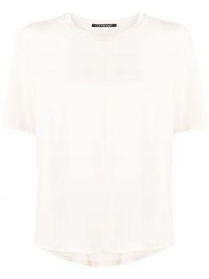 Шелковая с рукавами белая рубашка Luisa Cerano