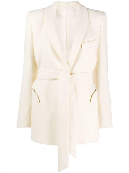 Шерстяная классическая куртка с поясом с лацканами Blazé Milano
