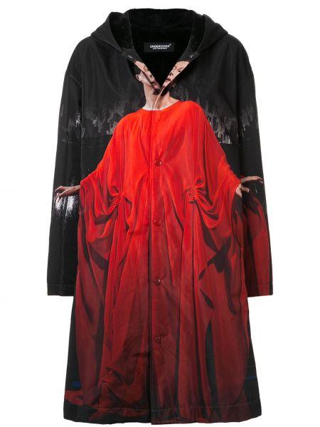 Пальто с капюшоном на пуговицах айвори Undercover