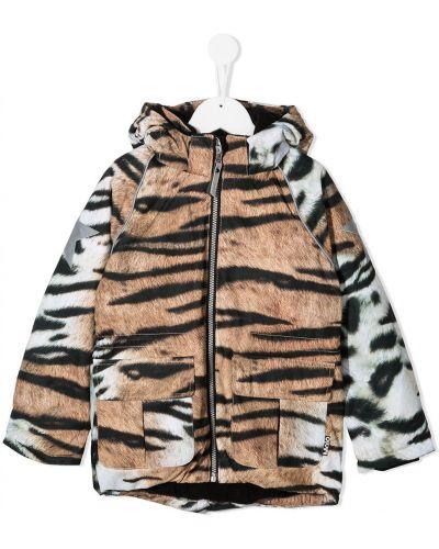 С рукавами классическая куртка с капюшоном на молнии Molo