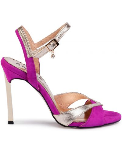 Босоножки на каблуке - фиолетовые R.polański