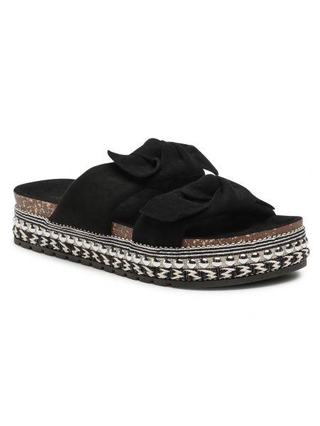 Sandały espadryle - czarne Deezee