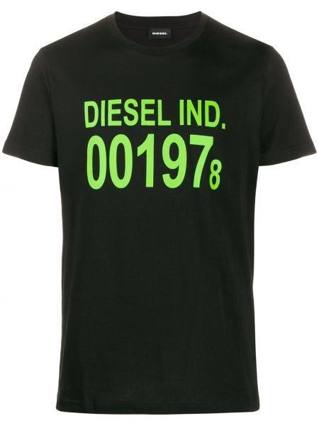 Черная вязаная футболка Diesel