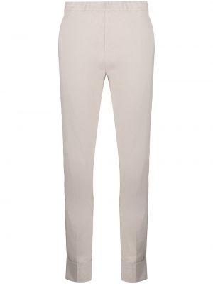 Льняные серые укороченные брюки с карманами D.exterior