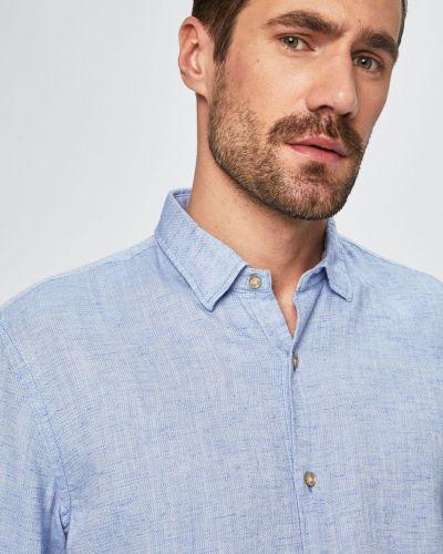 Рубашка с длинным рукавом тонкая синий Pierre Cardin