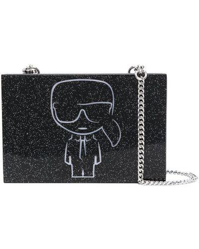 Kopertówka srebrna - czarna Karl Lagerfeld
