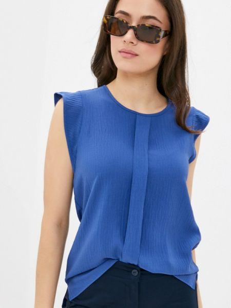 Блузка без рукавов синяя весенний Remix