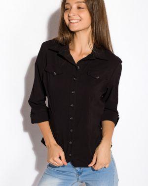 Приталенная деловая рубашка с поясом для офиса Time Of Style