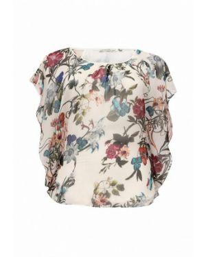 Блузка с коротким рукавом весенний бежевый Emoi Size Plus
