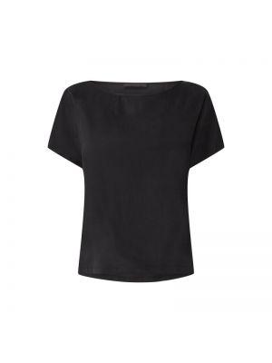 Czarna bluzka bawełniana Drykorn