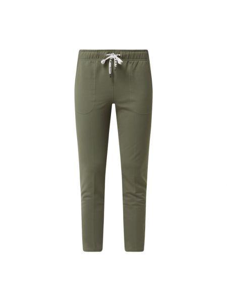 Zielone spodnie sportowe bawełniane Marc Cain