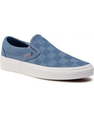 Klasyczny niebieski slipony Vans