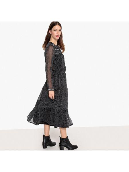 Платье миди в горошек макси Mademoiselle R
