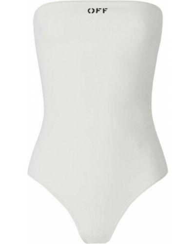 Biały body prążkowany Off-white