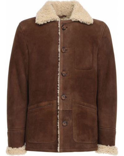 Куртка с накладными карманами - коричневая Schott