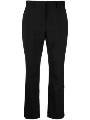 Шерстяные черные укороченные брюки с потайной застежкой Paul Smith