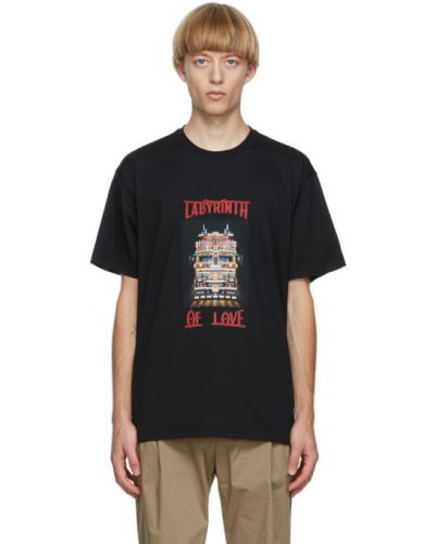 Bawełna czarny koszula z krótkim rękawem z kołnierzem krótkie rękawy Burberry