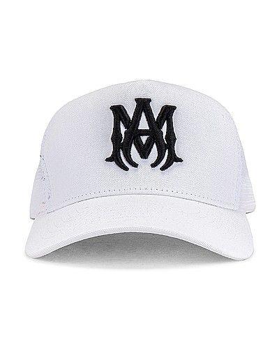 Белая шапка с вышивкой Amiri