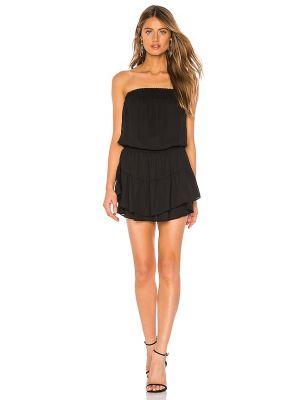 Черное платье мини с декольте с подкладкой Krisa
