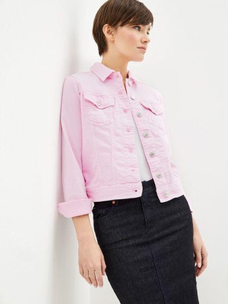 Джинсовая куртка весенняя розовая United Colors Of Benetton