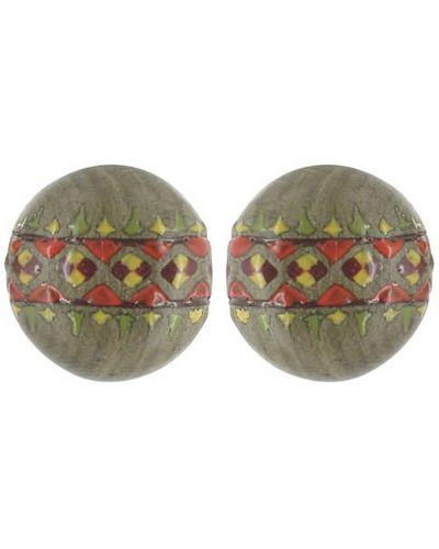 Серьги деревянные зеленый Nature Bijoux