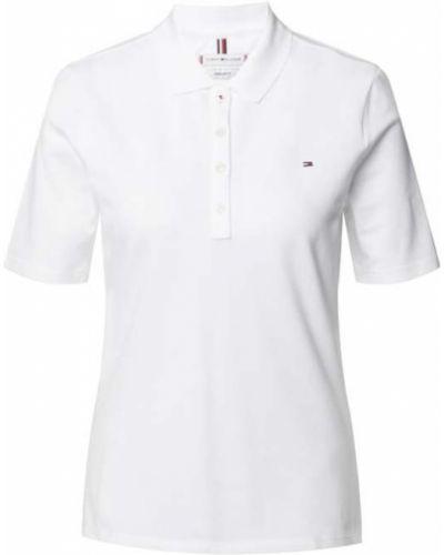 Biały t-shirt bawełniany krótki rękaw Tommy Hilfiger
