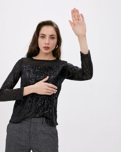 С рукавами черная блузка Wallis