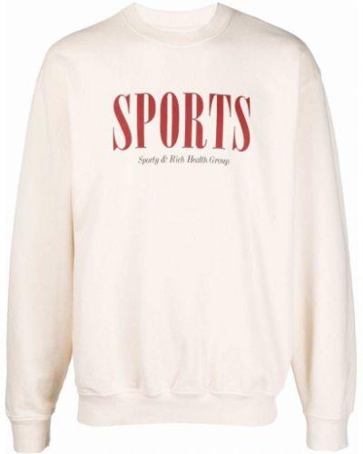 Хлопковый свитшот Sporty And Rich